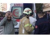 Bastığı cam kırılınca 4. kattan düşen iş adamı yaralandı