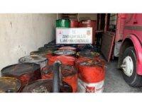 Depo baskınında 10 bin litre kaçak madeni yağ ele geçirildi