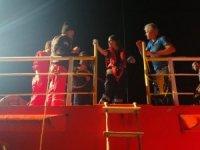 Denizde kalp krizi korkuttu