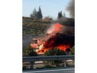 Bursa'da benzin tankeri alev alev yandı