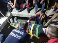 5 metre yükseklikten beton zemine çakılan işçi kurtarıldı