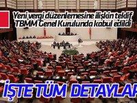 Yeni vergi düzenlemesine ilişkin teklif TBMM Genel Kurulunda kabul edildi (TÜM DETAYLAR)