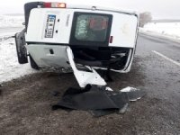 Yozgat'ta engelli öğrencileri taşıyan minibüs devrildi: 10 yaralı