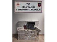 Bolu'da bin 784 paket kaçak sigara ele geçirildi