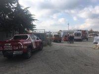 Çatalca'daki fabrika yangını söndürüldü