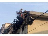 GÜNCELLEME-Şişli'de binanın çatısında çökme meydana geldi