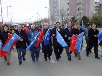 Çin'in Doğu Türkistan politikaları Sivas'ta protesto edildi