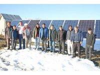 Köyün içme suyu problemi güneş enerjisiyle çözüldü