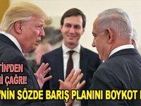 """Filistin'den Arap ve İslam ülkelerine """"ABD'nin sözde barış planını"""" boykot çağrısı"""