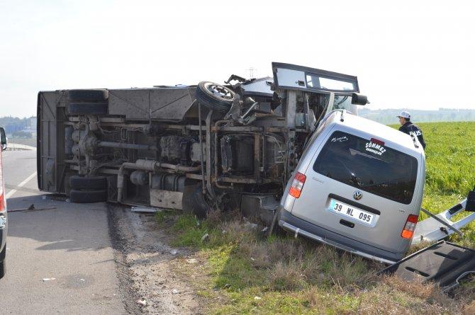 Kırklareli'de trafik kazası