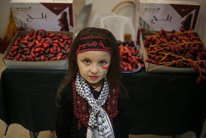 Gazze'de taze hurma fuarı