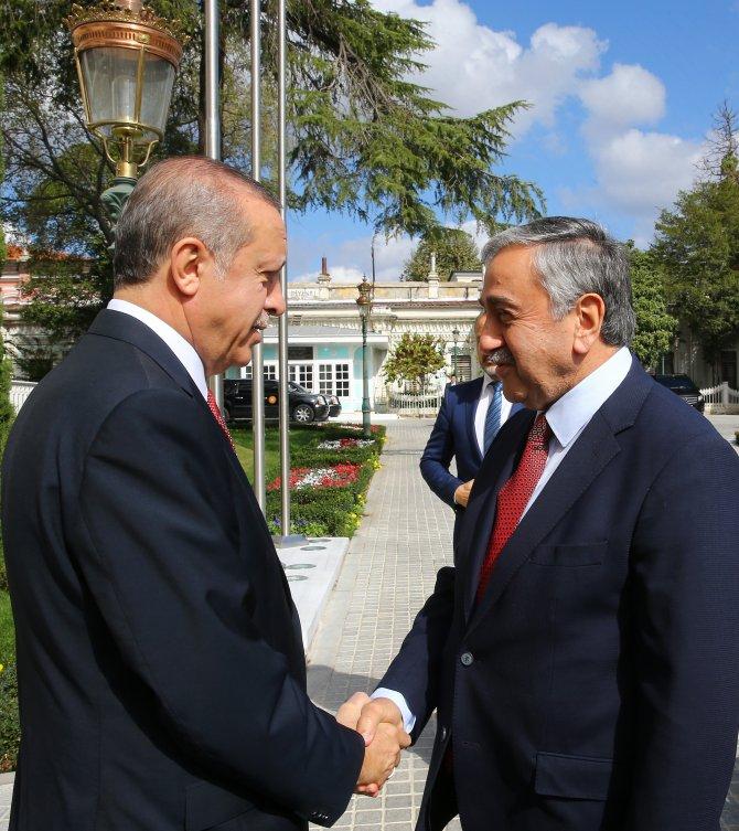 Erdoğan, KKTC Cumhurbaşkanı Akıncı ile görüştü