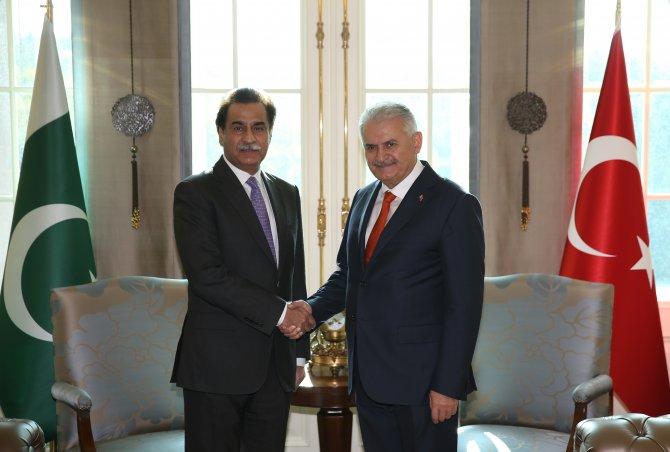 Yıldırım, Pakistan Milli Meclis Başkanı Sadık'la görüştü