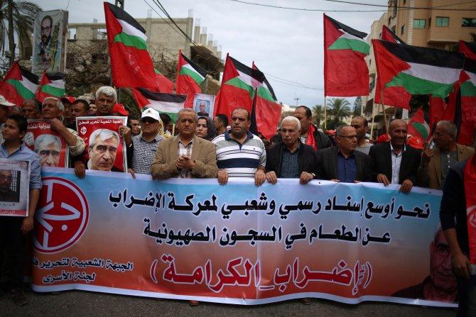 Açlık grevi yapan Filistinli tutuklulara