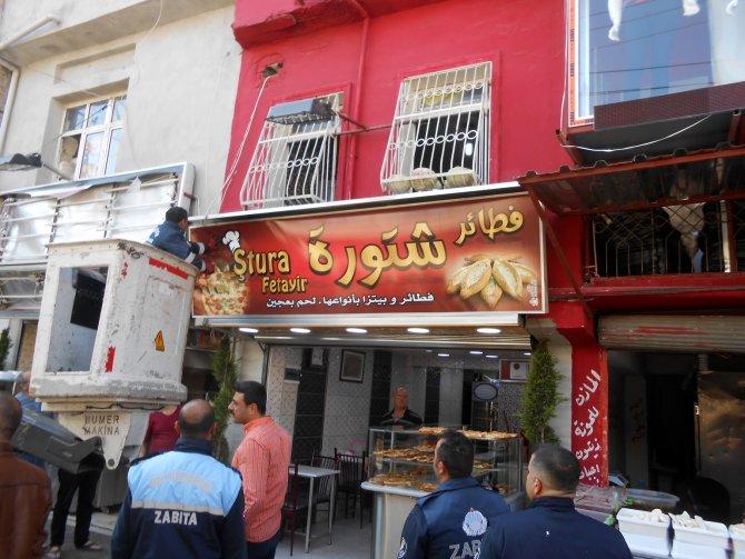 """Adana'da zabıtadan """"Arapça tabela"""" operasyonu"""