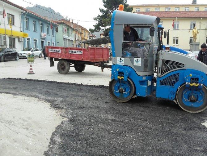 Sivrihisar'da asfalt çalışması