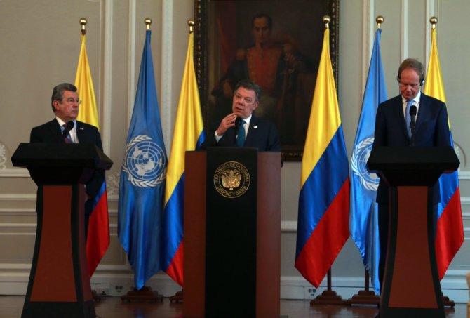 Kolombiya Devlet Başkanı Santos, BMGK heyetini kabul etti