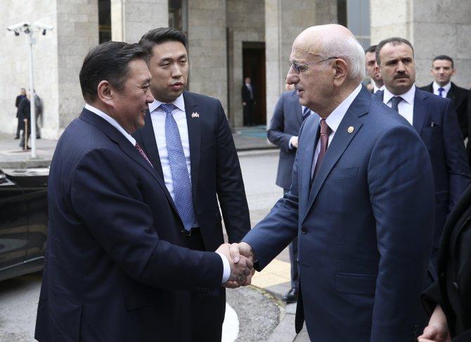Moğolistan Meclis Başkanı Miyegombo TBMM'de
