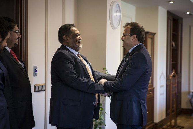 Çavuşoğlu, Sudanlı Bakan Elrekaby'yi kabul etti