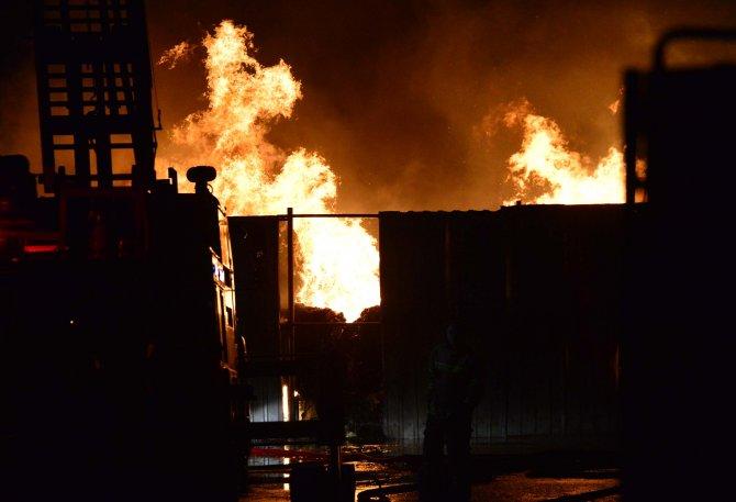 GÜNCELLEME - Çanakkale'de sebze ve meyve halinde yangın