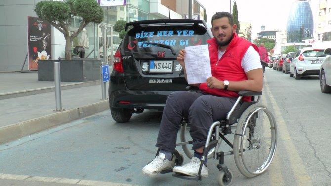 KKTC'de engelli parkına aracını bırakan engelliye para cezası