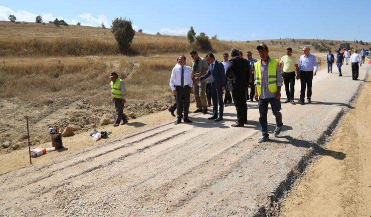 Yozgat'ta köy yolu çalışmaları
