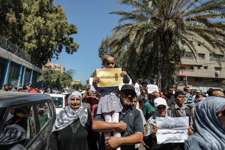 Gazze'de UNRWA protestosu