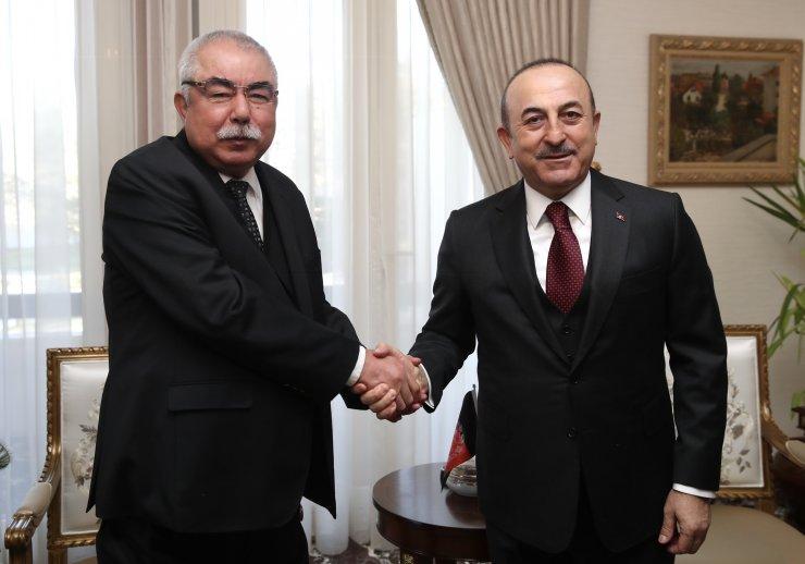 Çavuşoğlu Afganistan Cumhurbaşkanı Yardımcısı Dostum ile görüştü