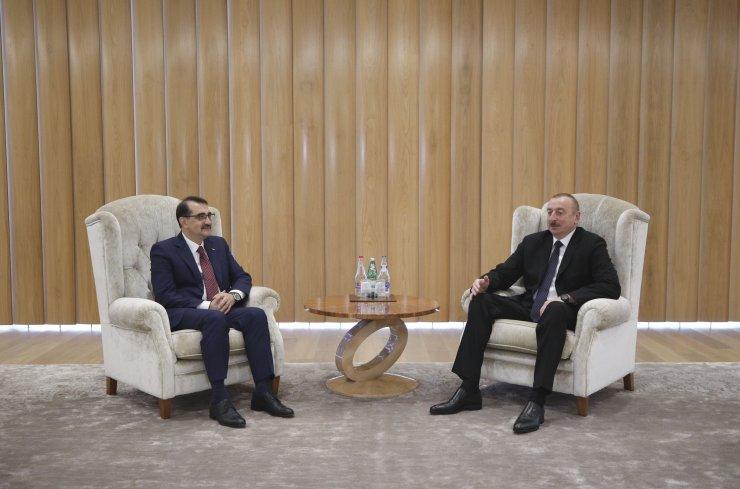 Enerji ve Tabii Kaynaklar Bakanı Fatih Dönmez, Aliyev'le görüştü