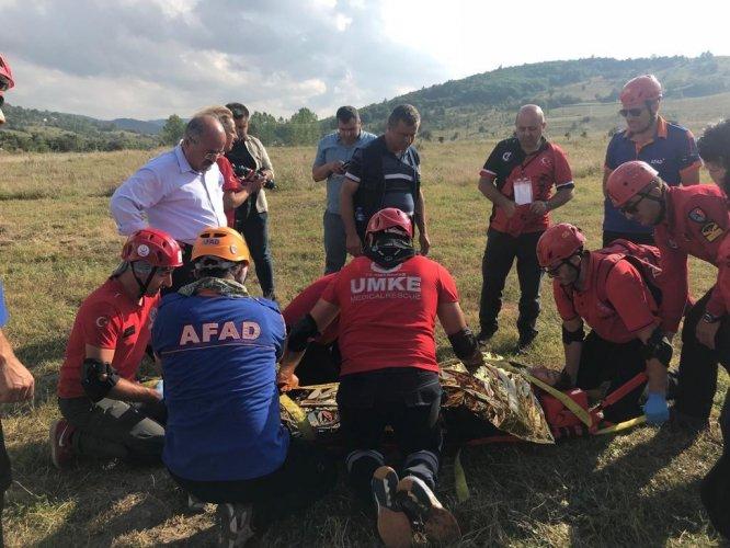 GÜNCELLEME 2 - Kanyonda ayağı kırılan kadın için kurtarma çalışması başlatıldı