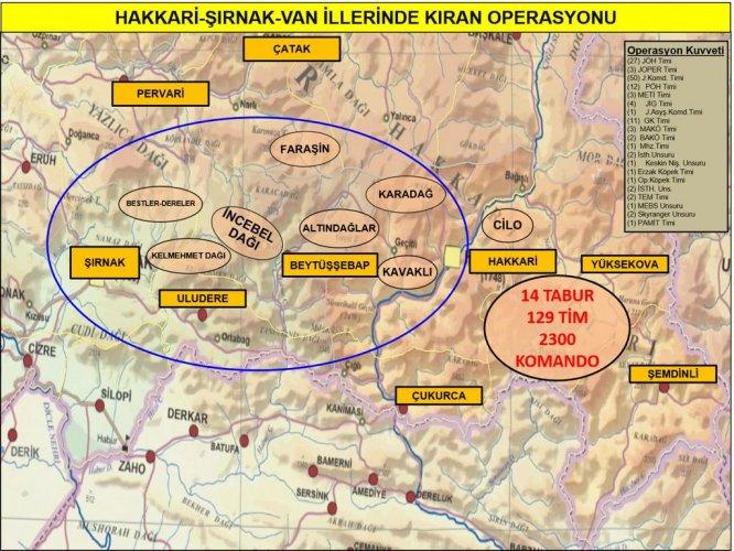 """Terör örgütü PKK'ya yönelik 3 ilde """"Kıran Operasyonu"""""""