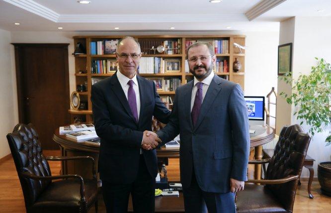 Filistin'in Ankara Büyükelçisi'nden AA'ya teşekkür ziyareti