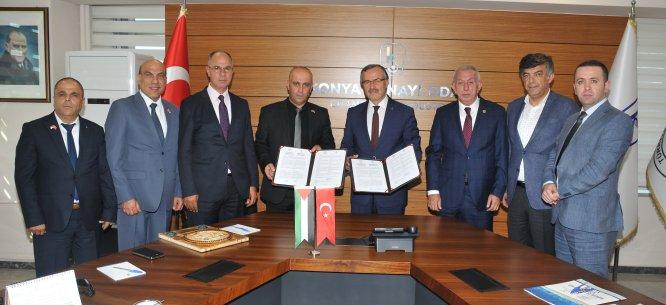 Konya ve Filistin arasında sanayi iş birliği