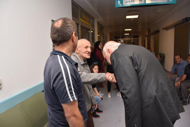 Kızılcahamam'da Başkan Acar'dan hastane ziyareti