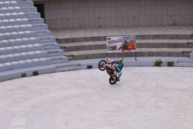 Enduro motosiklet sporcusu Coleman, Konya'da gösteri yaptı