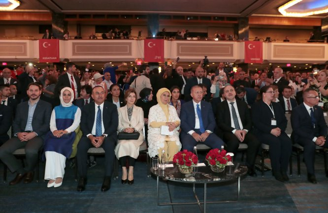 Erdoğan, ABD'deki Türk soydaş ve Müslüman toplumuyla buluştu