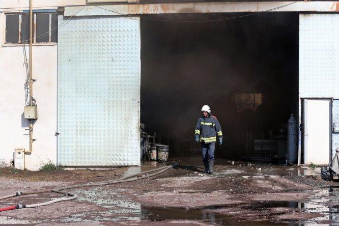 Kayseri'de fabrika yangını