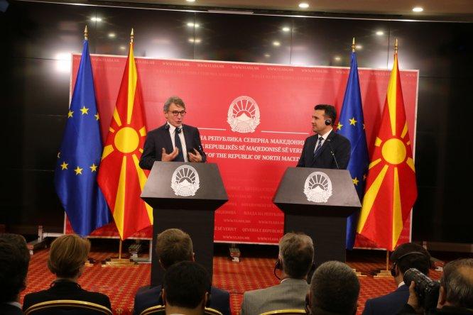 AP Başkanı Sassoli, Kuzey Makedonya'da