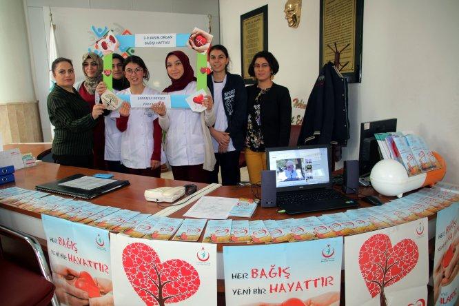 Şarkışla Devlet Hastanesinde organ bağışı standı açıldı