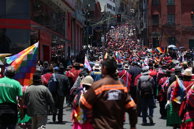 Bolivya'da geçiş hükümeti karşıtı gösteri