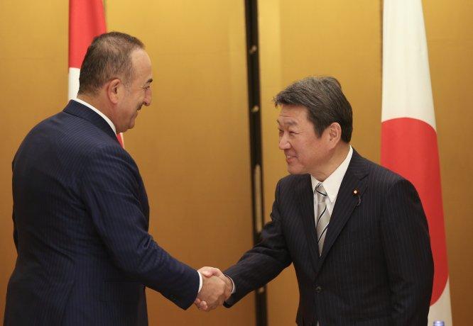 Dışişleri Bakanı Çavuşoğlu, Japon mevkidaşı Motegi ile görüştü