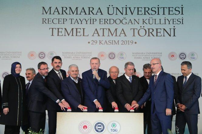 Marmara Üniversitesi Recep Tayyip Erdoğan Külliyesi Temel Atma Töreni