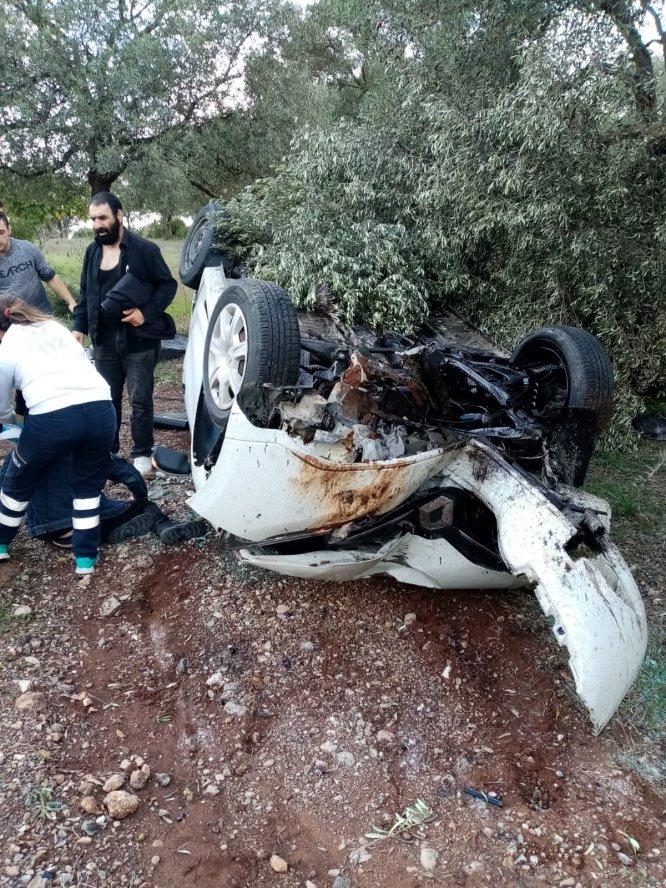 Muğla'da otomobil devrildi: 3 yaralı