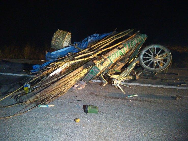 Kütahya'da otomobilin çarptığı at arabasının sürücüsü öldü