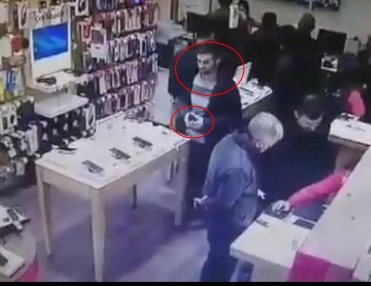 Kütahya'da cep telefonu hırsızı güvenlik kamerası görüntüleri sayesinde yakalandı