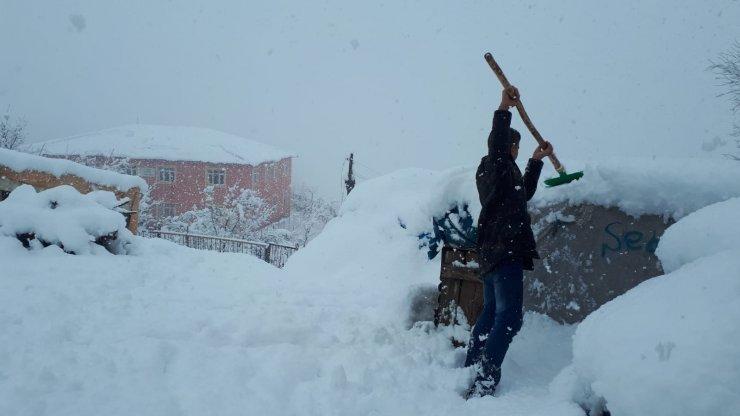 Şırnak'ta kar yağışı hayatı olumsuz etkiledi