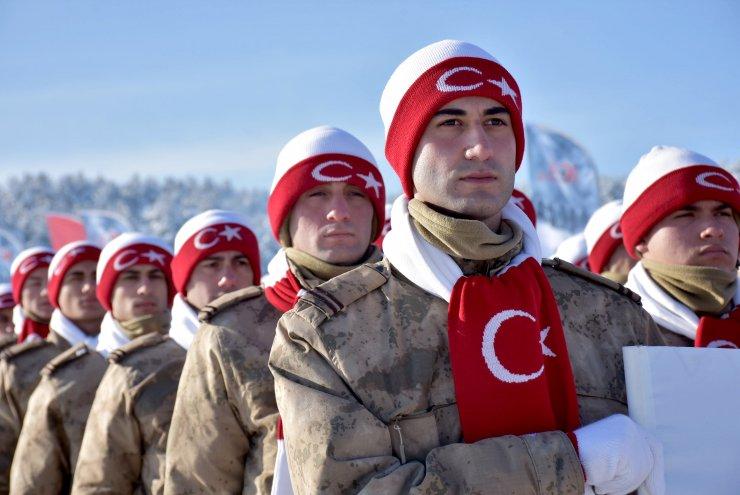 """Bakan Pakdemirli Sarıkamış'ta """"Türkiye Şehitleriyle Yürüyor"""" etkinliğinde konuştu:"""