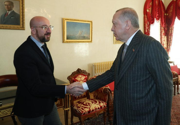 Cumhurbaşkanı Erdoğan'ın, AB Konseyi Başkanı Michel'i kabulü sona erdi