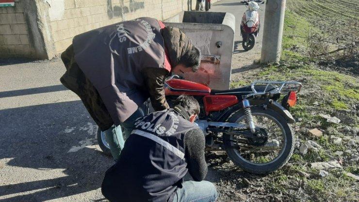 Gece çalınan motosiklet bulundu: 4 gözaltı