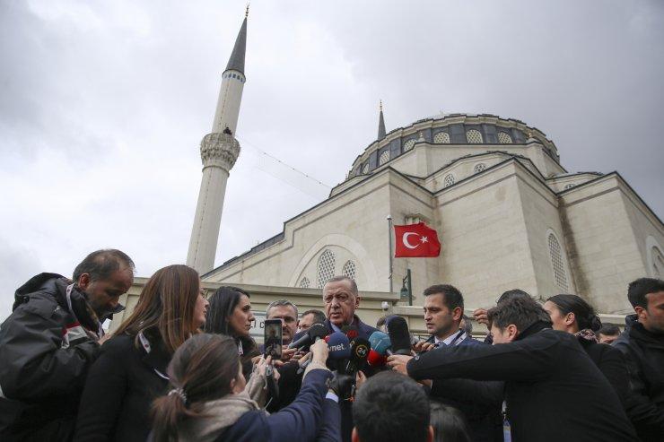 Cumhurbaşkanı Erdoğan, cuma namazını Hz. Ali Camisi'nde kıldı